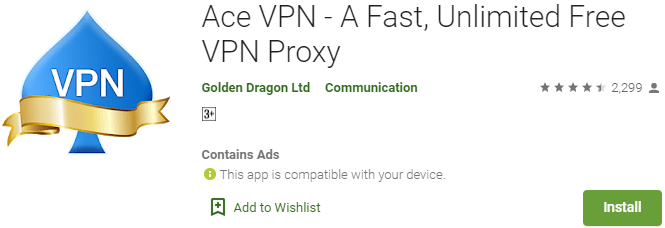 Ace VPN for PC