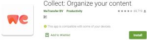 WeTransfer App For PC