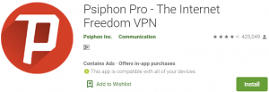 Psiphon Pro For PC Download