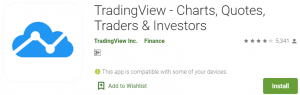 TradingView app on PC
