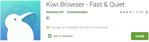 Kiwi Browser for PC Download