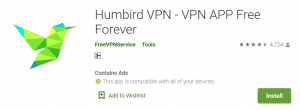 Humbird VPN for PC
