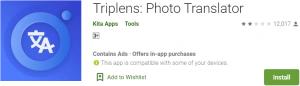 Triplens Photo Translator for PC Download
