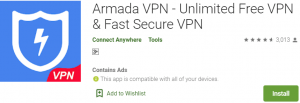 Armada VPN for PC Download
