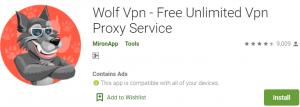 Wolf VPN PC Download