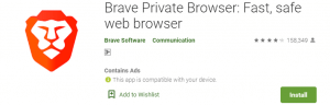 Brave Private Browser For PC
