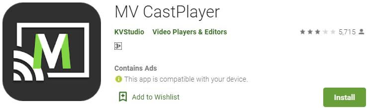 Install MV CastPlayer for PC