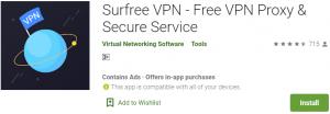 Surfree VPN PC Download