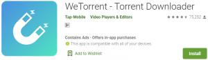WeTorrent PC Download