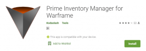 Warframe Manager For PC