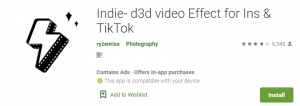 Indie d3d video Effect For PC