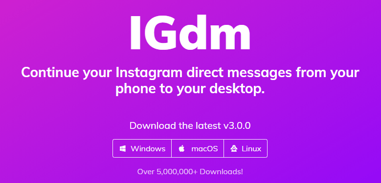 Instagram Direct for PC