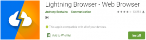 Lightning Browser for PC Download