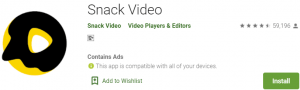 Snack Video PC Download