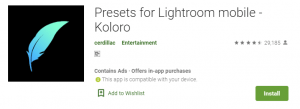 Presets for Lightroom - Koloro For PC