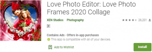Love Photo Editor PC Download