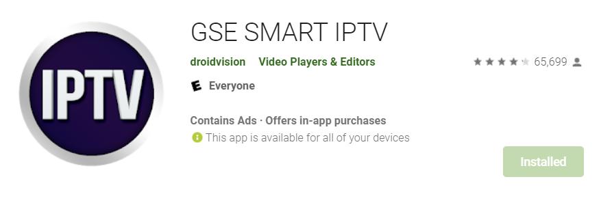 GSE Smart IPTV for Mac