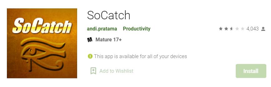 SoCatch for Mac